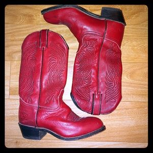 Durango Woman's Red Leather Western Boot